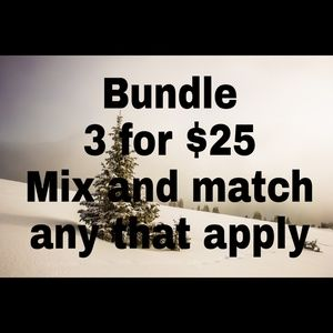 Tops - Bundle 3 for $25 Mix and match